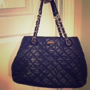 Kate Spade quilted leather tote bag - black